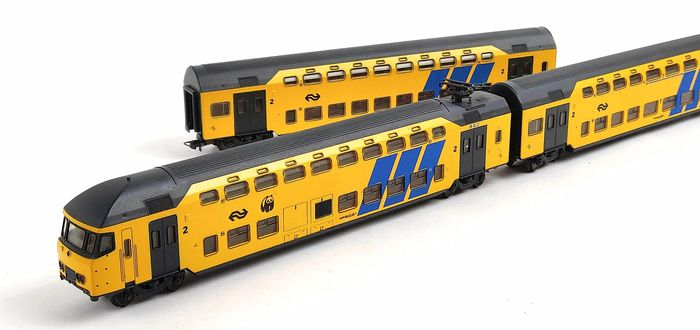 Lima H0 - 149723K - Passenger carriage - Three-part trunk DDM-1 carriages, set 'Panda' - NS