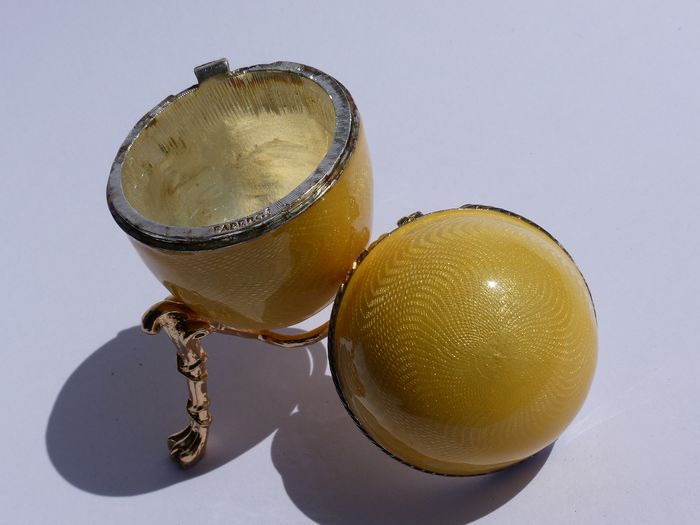 Fabergé Impérial ( Signé )  - Egg collector - Email - Silver Plated