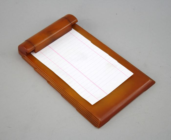 Carvacraft - Dickinson - Notepad Holder - Phenolic Bakelite