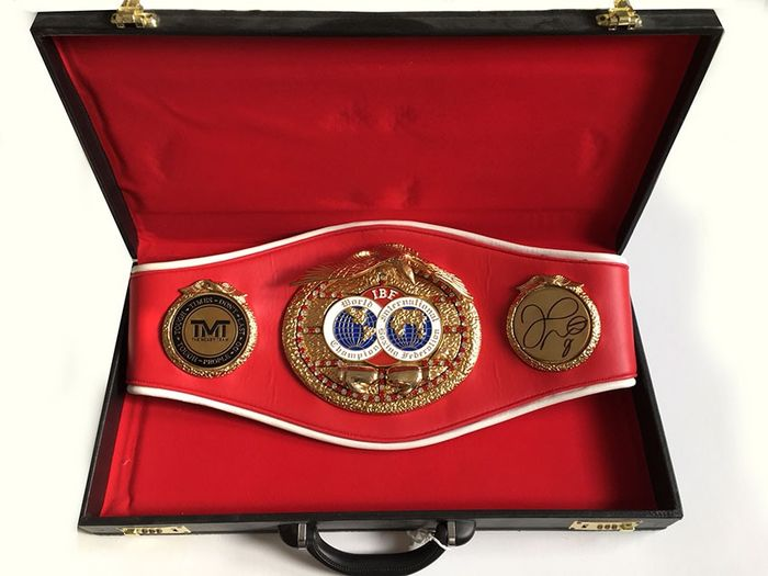 Personally signed - Boxing - Floyd Mayweather Jr - Full Size IBF Boxing Belt