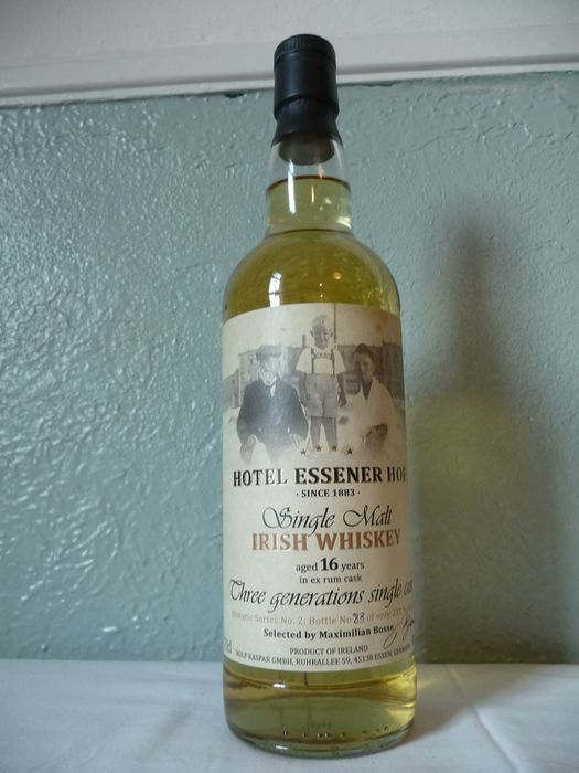 Irish Single Malt 1999 16 years old Historic Series no. 2 - ex rum cask - Hotel Essener Hof - b. 2015 - 70 cl