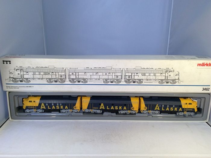 Märklin H0 - 3462 - Diesel-electric locomotive - Part-part USA Type F-7 (4840) - Alaska Railroad