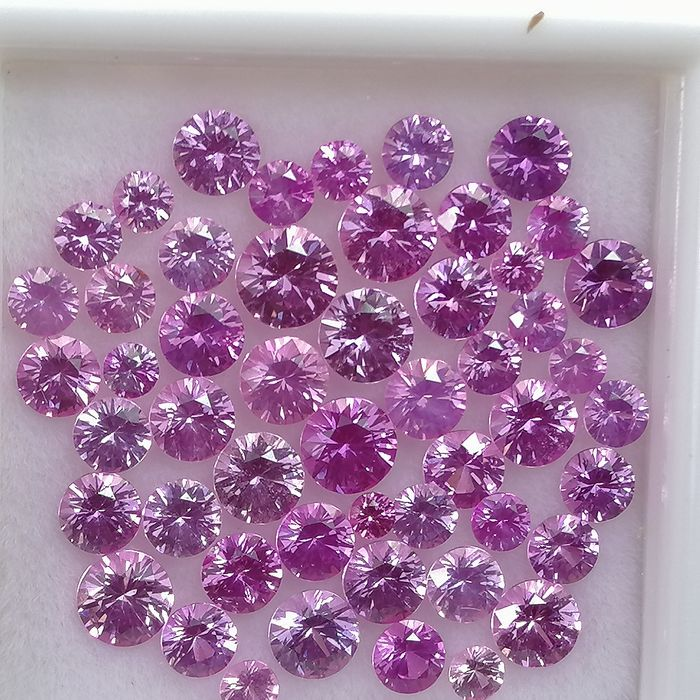 50 pcs Roze Saffier - 4.64 ct