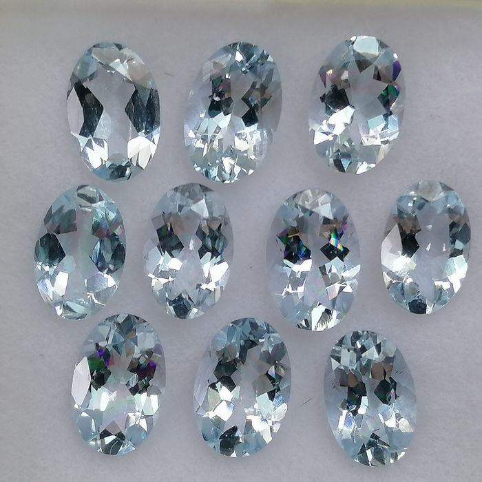 10 pcs  Aquamarine - 3.57 ct