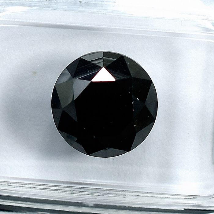 Diamant - 4.07 ct - Brillant - Black - N/A - NO RESERVE PRICE