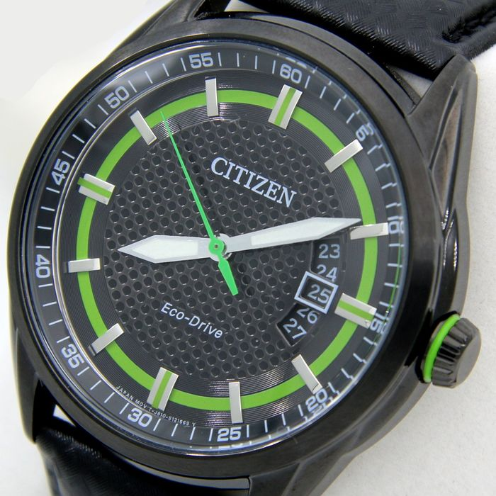 Citizen Eco Drive Green Carbon Style With New Morellato Band No Reserve Price Men 2011 Present Catawiki