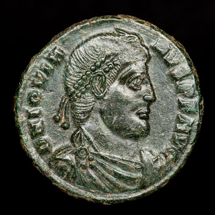 Roman Empire - Follis - Jovianus (363-364 A.D.) minted in Sirmium - VOT / V / MVLT / X within wreath, ASIRM. - Bronze
