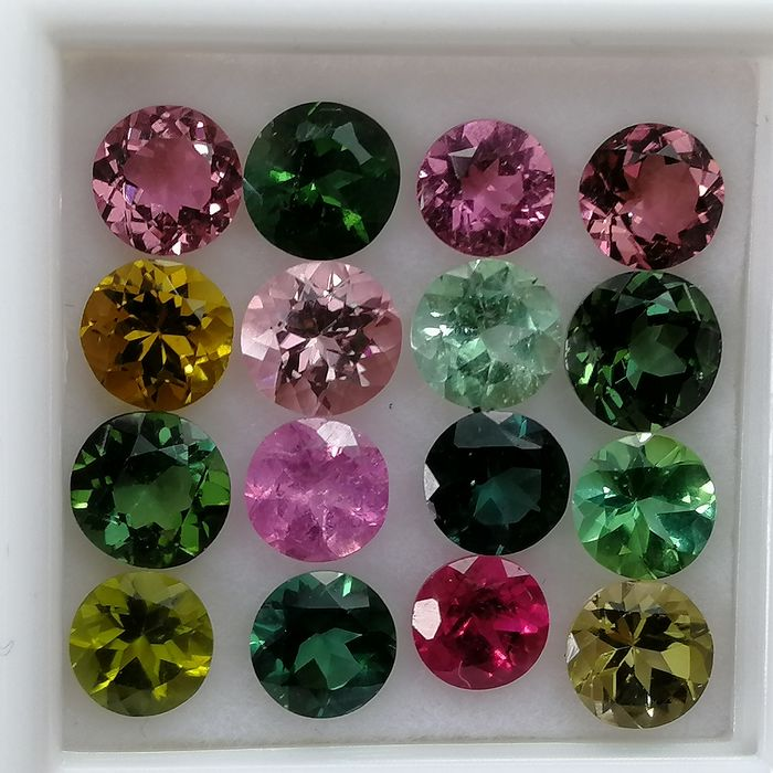 16 pcs  Tourmaline - 7.48 ct