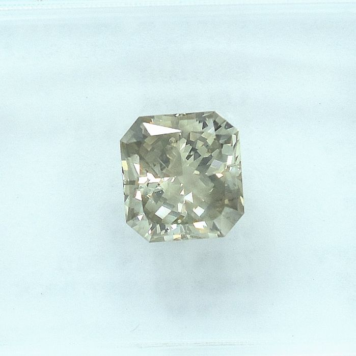 Diamant - 1.01 ct - Couper RectoMod Coin Brillant - Natural Fancy Light Grayish Brown - I1 - NO RESERVE PRICE