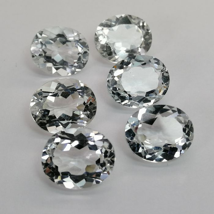 6 pcs  Topaze - 34.66 ct