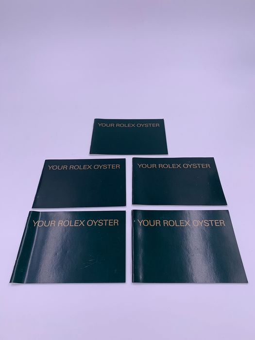 "Rolex - 5 Rolex Booklets ""Your Rolex Oyster"" - Unisex - 2000 - 2010"