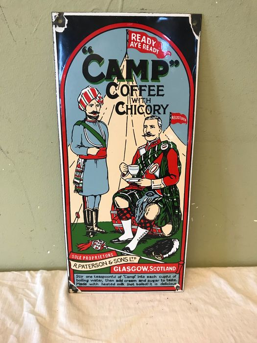 Camp Coffee with Chicory - Advertising board - Enamel