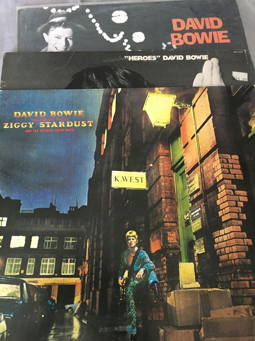 "David Bowie - ""Heroes"" - ""The Rise And Fall Of Ziggy Stardust And The Spiders From Mars"" -""Absolute Beginners"" - LP's - 1977/1990"