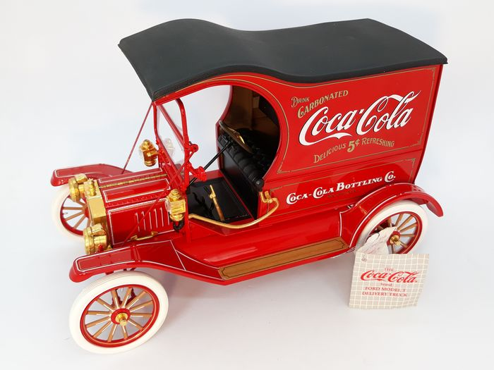 Franklin Mint - Ford Model T, Coca-Cola - Automodell mit originalem Styropor, 1:16 - Druckguss