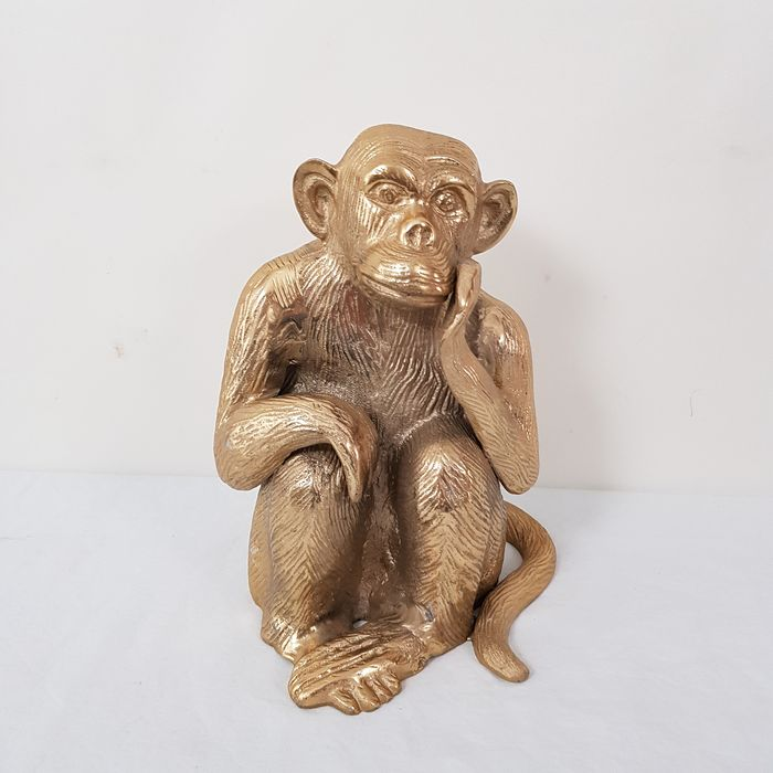 Image of a monkey in the 70s - Regency Style - Brass