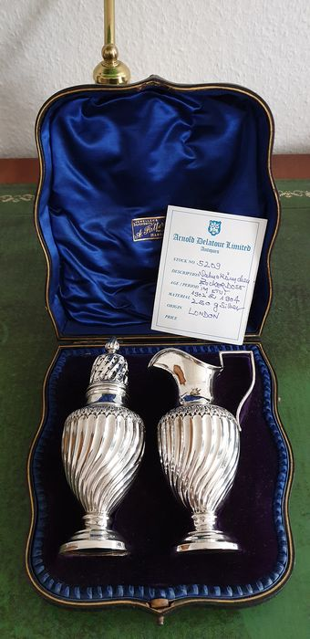 Sugar and cream set - .925 silver - Josiah Williams & Co, London - England - 1902