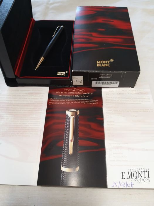 Montblanc - Montblanc Virginia Woolf roller pen - Complete collection of 38005