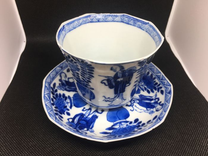Tea cup (2) - Porcelain - China - 19th century