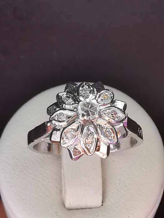 18 quilates Oro blanco - Anillo - 0.07 ct Diamante - Diamantes