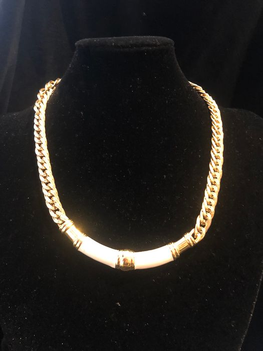 Gold-plated - Monet enamelled necklace