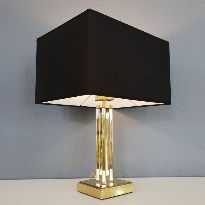 Brass Hollywood Regency Skyscraper Lamp - 1970s