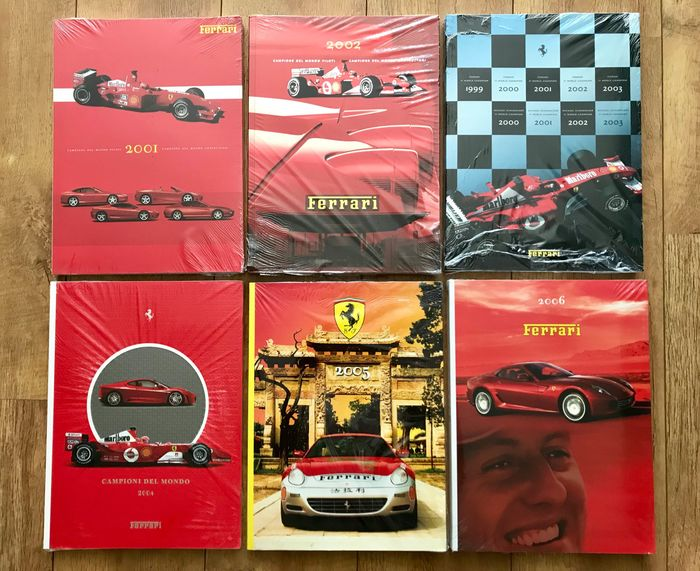 Boeken - Ferrari - Official FERRARI yearbooks - 6 pieces from different years - information on cars, formel 1 and more - 2001-2006