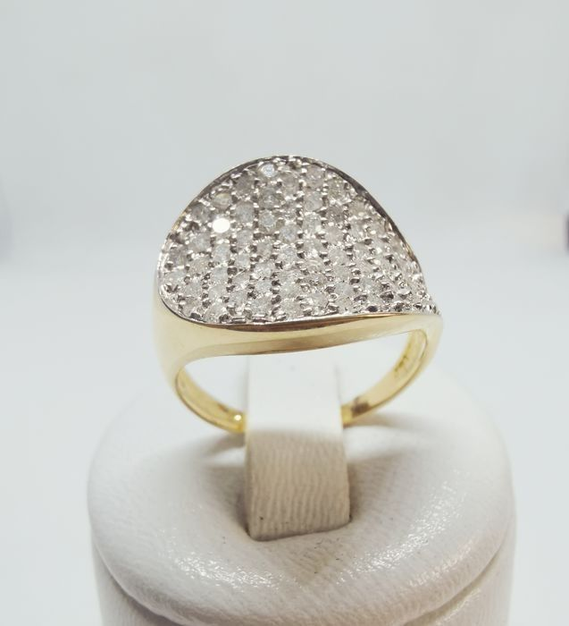 18 kt. Yellow gold - Ring - 1,42 ct Diamond