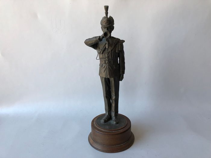Peter Hicks - Peter Hicks - trumpeter British army - Realist - Alloy, Bronze alloy & Wood