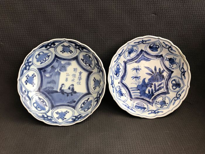 Plates (2) - Arita, Blue and white - Porcelain - Japan - Late 18th / Early 19th century