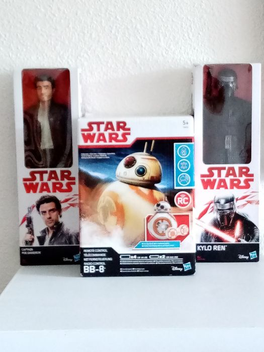 Star Wars - Hasbro - Action figure Set 0f 3: Remote Control BB-8, Captain Poe Dameron and Kylo Ren