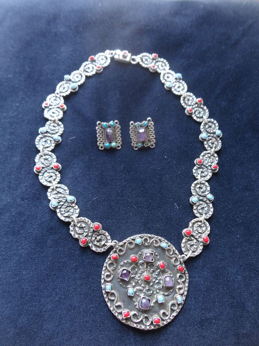 Necklace and Earrings Set - .925 silver - Mexico