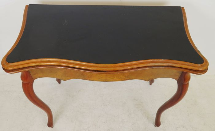 Games table - Biedermeier - Mahogany, Cuba mahogany - Approx. 1860