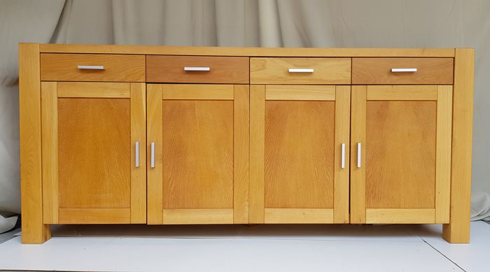 Sideboard, Solid unprocessed oak model Magnum - Wood- Oak