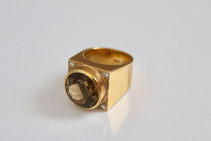 18 kt. Yellow gold - Ring - 9.00 ct Topaz
