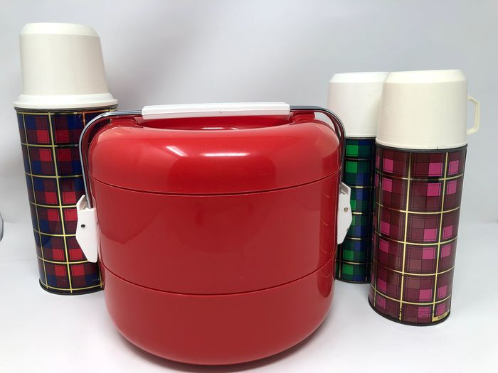 Selap e Thermos - Complete with Picnic and 3 Thermoses - Metal, glass and plastic
