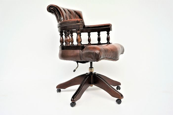 Chesterfield style desk armchair