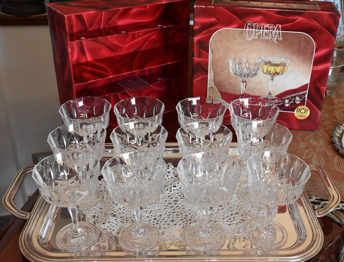 RCR - Champagne cups (12) - Crystal