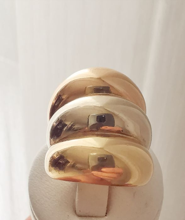 18 kt. Gold, Tricolour - Ring