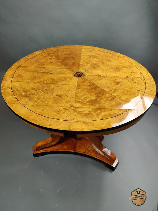 Dining table - Biedermeier - Birch, Cherry, Ebony, Wood - First half 19th century