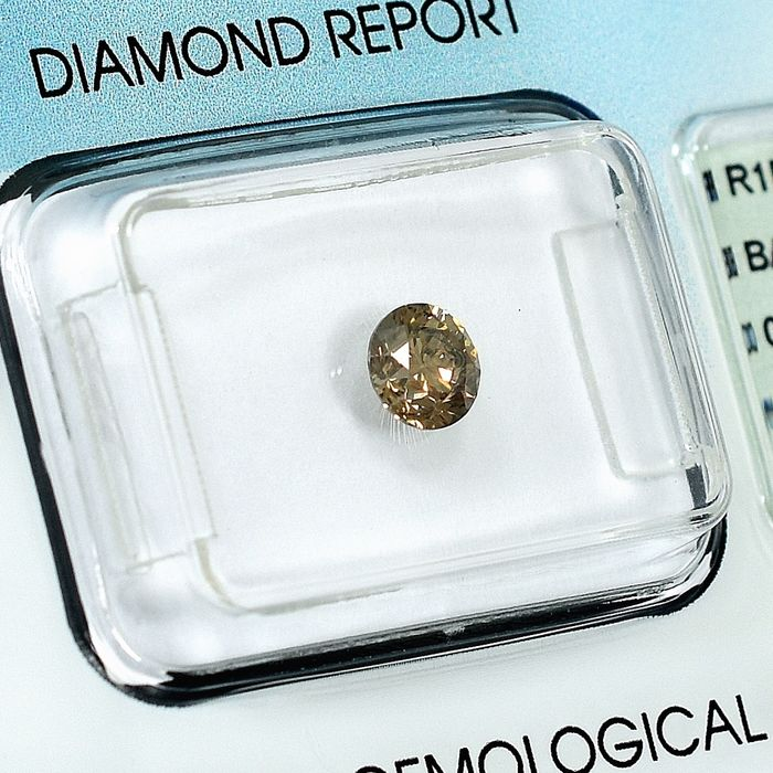 Diamant - 0.51 ct - Brillant - Natural Fancy Light Brown - Si2 - NO RESERVE PRICE
