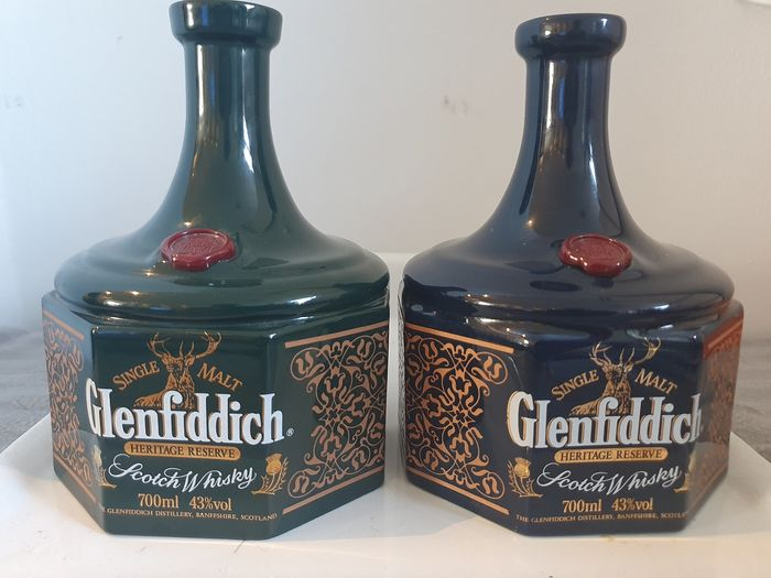 Glenfiddich Heritage Reserve -  Mary Queen of Scots & Bonnie Prince Charlie - 700ml - 2 bottles