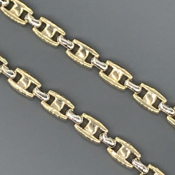 Linea erre - 18 kt. White gold, Yellow gold - Necklace