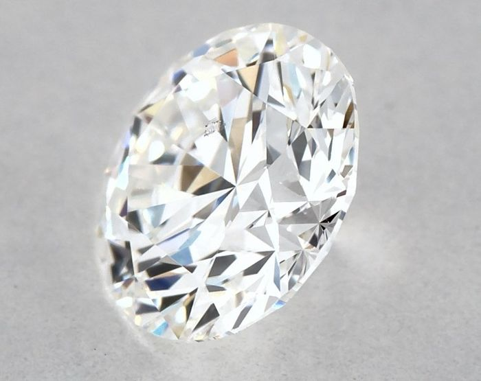 Diamant - 0.50 ct - Brillant, Rund - E - SI1, ** 3EX **, Low Reserve Price + Free FedEx Shipping