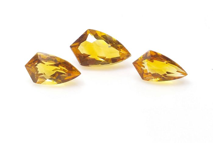 3 pcs Yellow Citrine - 8.33 ct