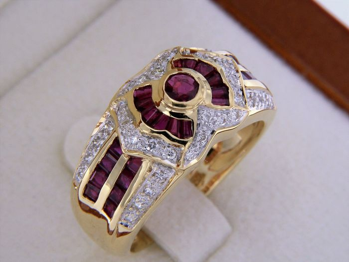 evagold Yellow gold - Ring Ruby
