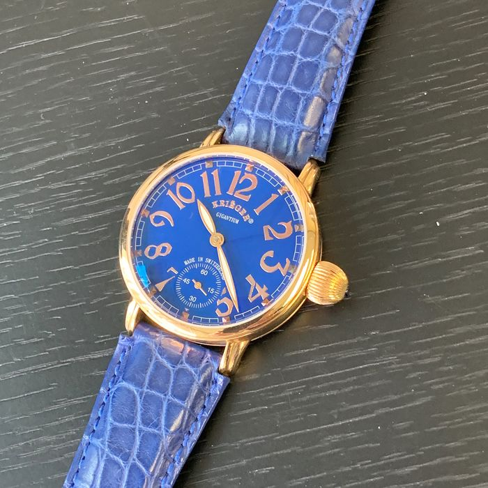 Krieger - 18k pink gold with blue Dial  - K5005R.6A.6 - Heren - 2011-heden