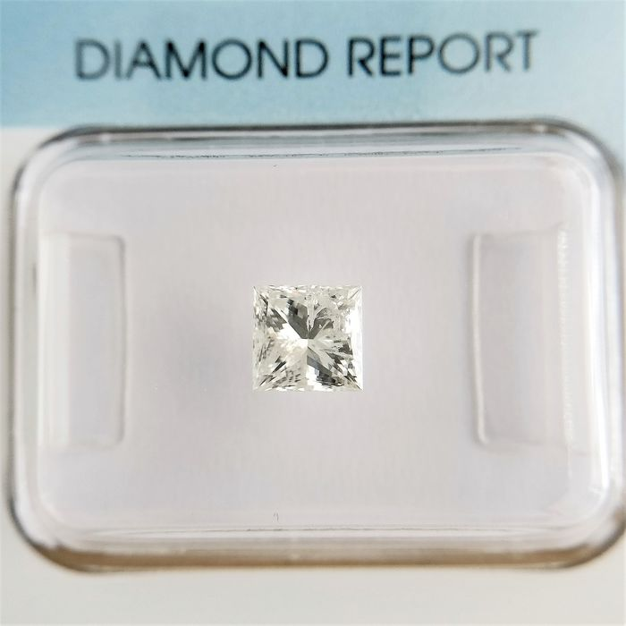 1 pcs Diamante - 0.75 ct - Principessa - I - I2