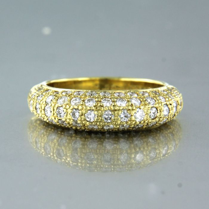 18 kt. Yellow gold - Ring - 1.30 ct Diamond