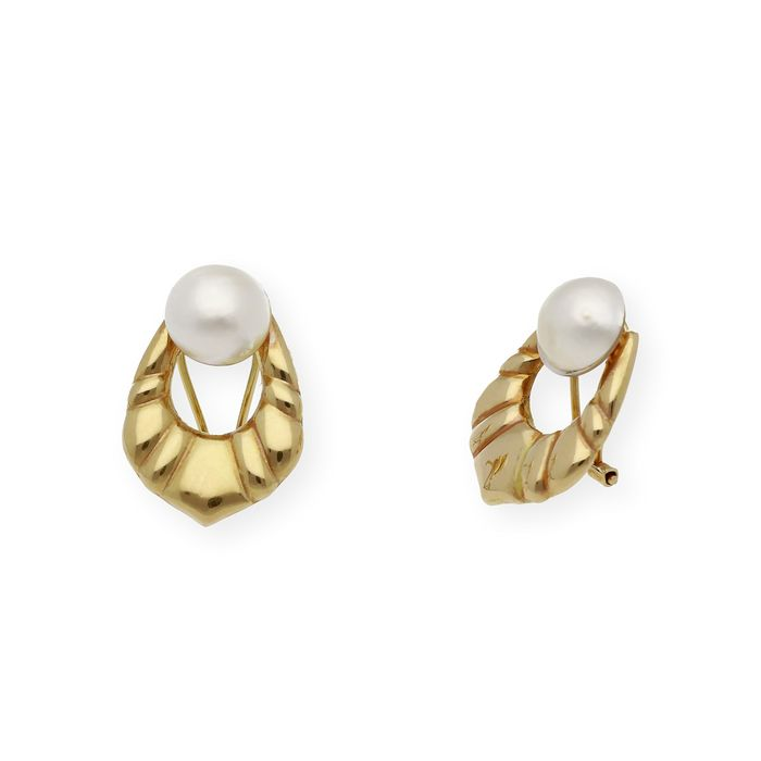 18 kt. Gold, Mabe pearls, Yellow gold - Earrings