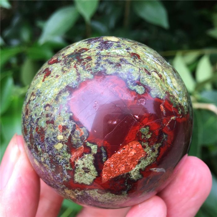 Dragon Blood Stone Sphere - 55×55×55 mm - 286 g